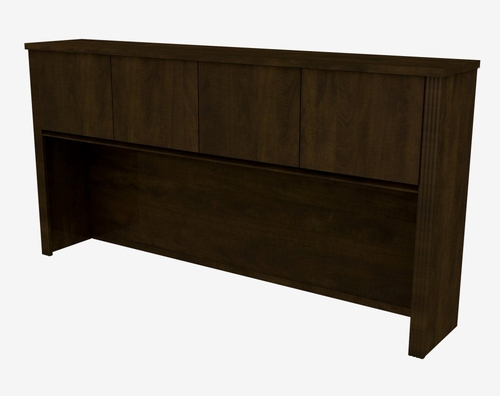 Hutch for Credenza in Chocolate - Prestige Plus - Bestar Office Furniture - 99520-69