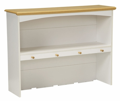Hutch in White/Maple - Kitchen Essentials - New Visions by Lane - 394-742