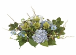 Hydrangea Candleabrum Centerpiece in Blue - Nearly Natural - 4632-BL