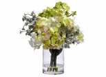 Hydrangea Silk Flower Arrangement - Nearly Natural - 4779