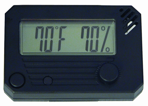 HygroSet Digital Hygrometer in Black - DHYG-Rect
