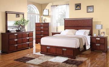 Hyland 5PC Bedroom Set in Dark Cherry - 202241Q