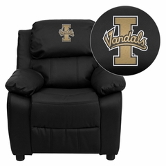 Idaho Vandals Embroidered Black Leather Kids Recliner - BT-7985-KID-BK-LEA-40025-EMB-GG