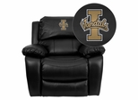 Idaho Vandals Embroidered Black Leather Rocker Recliner  - MEN-DA3439-91-BK-40025-EMB-GG