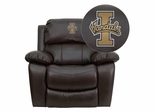 Idaho Vandals Embroidered Brown Leather Rocker Recliner  - MEN-DA3439-91-BRN-40025-EMB-GG