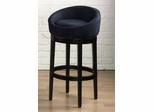 "Igloo 26"" Swivel Barstool in Black Microfiber / Ebony - Armen Living - LCIGBAMFBL26"