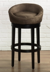 "Igloo 26"" Swivel Barstool in Brown Microfiber / Ebony - Armen Living - LCIGBAMFBR26"