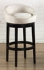 "Igloo 26"" Swivel Barstool in Creme Microfiber / Ebony - Armen Living - LCIGBAMFCR26"