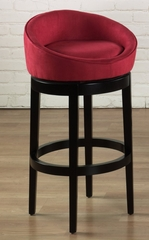 "Igloo 26"" Swivel Barstool in Red Microfiber / Ebony - Armen Living - LCIGBAMFRE26"