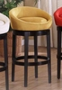 "Igloo 26"" Swivel Barstool in Yellow Microfiber / Ebony - Armen Living - LCIGBAMFYE26"