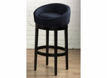 "Igloo 30"" Swivel Barstool in Black Microfiber / Ebony - Armen Living - LCIGBAMFBL30"