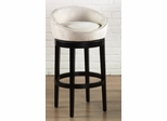 "Igloo 30"" Swivel Barstool in Creme Microfiber / Ebony - Armen Living - LCIGBAMFCR30"