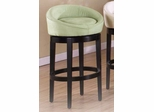 "Igloo 30"" Swivel Barstool in Green Microfiber / Ebony - Armen Living - LCIGBAMFGR30"