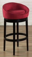 "Igloo 30"" Swivel Barstool in Red Microfiber / Ebony - Armen Living - LCIGBAMFRE30"