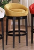 "Igloo 30"" Swivel Barstool in Yellow Microfiber / Ebony - Armen Living - LCIGBAMFYE30"