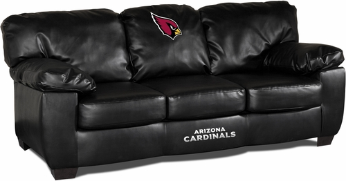 Imperial International Arizona Cardinals Black Leather Classic Sofa