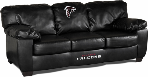 Imperial International Atlanta Falcons Black Leather Classic Sofa