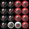 Imperial International Atlanta Falcons Home Versus Away Billiard Ball Set