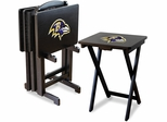 Imperial International Baltimore Ravens 4 TV Trays With Stand