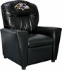 Imperial International Baltimore Ravens Faux Leather Kids Recliner