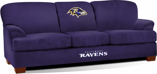Imperial International Baltimore Ravens First Team Microfiber Sofa