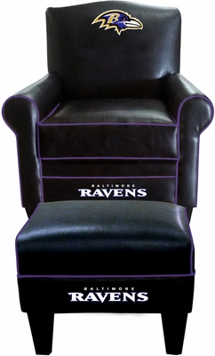 Imperial International Baltimore Ravens Game Time Chair & Ottoman