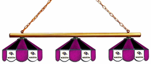 Imperial International Baltimore Ravens Glass 3 Shade Lamp