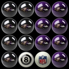 Imperial International Baltimore Ravens Home Versus Away Billiard Ball Set