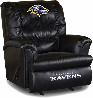 Imperial International Baltimore Ravens Leather Big Daddy Recliner