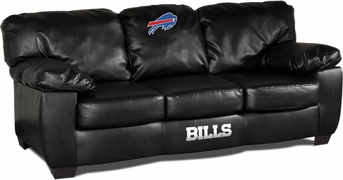 Imperial International Buffalo Bills Black Leather Classic Sofa