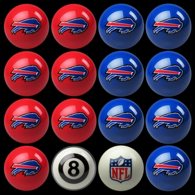 Imperial International Buffalo Bills Home Versus Away Billiard Ball Set