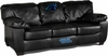 Imperial International Carolina Panthers Black Leather Classic Sofa