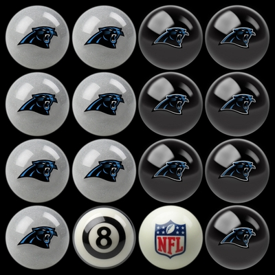 Imperial International Carolina Panthers Home Versus Away Billiard Ball Set