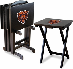 Imperial International Chicago Bears 4 TV Trays With Stand