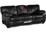 Imperial International Chicago Bears Black Leather Classic Sofa