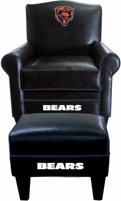 Imperial International Chicago Bears Game Time Chair & Ottoman