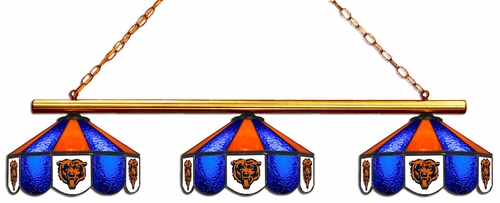 Imperial International Chicago Bears Glass 3 Shade Lamp