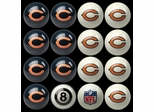 Imperial International Chicago Bears Home Versus Away Billiard Ball Set