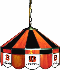 "Imperial International Cincinnati Bengals 16"" Glass Lamp"