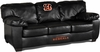 Imperial International Cincinnati Bengals Black Leather Classic Sofa