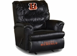 Imperial International Cincinnati Bengals Leather Big Daddy Recliner