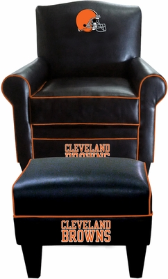 Imperial International Cleveland Browns Game Time Chair & Ottoman
