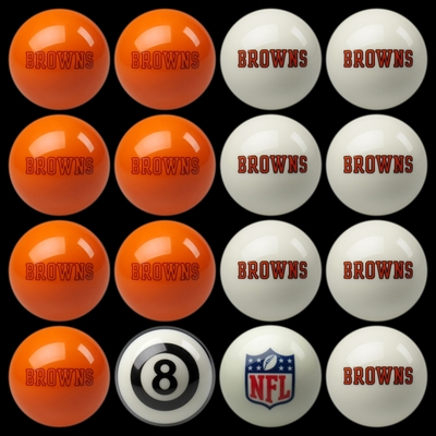 Imperial International Cleveland Browns Home Versus Away Billiard Ball Set