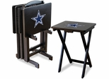 Imperial International Dallas Cowboys 4 TV Trays With Stand