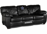 Imperial International Dallas Cowboys Black Leather Classic Sofa