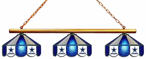 Imperial International Dallas Cowboys Glass 3 Shade Lamp