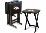 Imperial International Denver Broncos 4 TV Trays With Stand