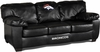 Imperial International Denver Broncos Black Leather Classic Sofa