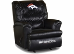Imperial International Denver Broncos Leather Big Daddy Recliner