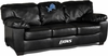 Imperial International Detroit Lions Black Leather Classic Sofa